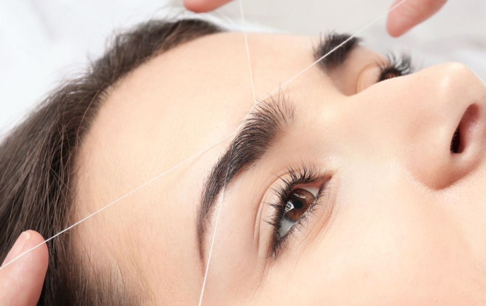 Eyebrow Threading Woman