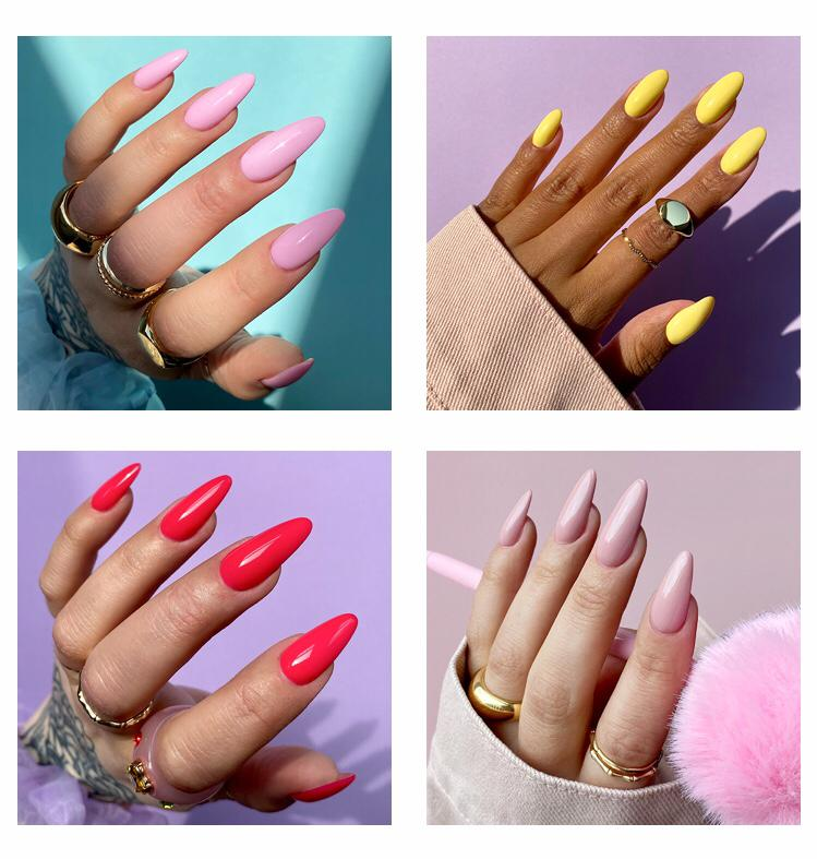 The Gel Bottel Nails Examples